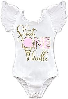 Girls Personalized Ice Cream 1st Birthday Leotard