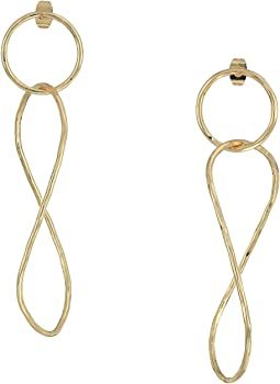 Large Interlock Drop Earrings