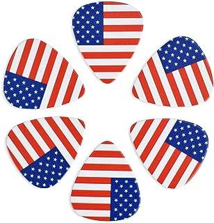 CLOUDMUSIC Guitar Picks American USA Flag For Acoustic Guitar Kids Men Women Variety Pack 12pcs