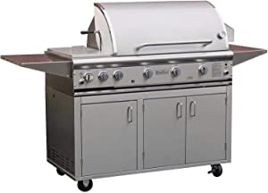 Profire Professional Deluxe Series 48-inch Freestanding Infrared Hybrid Natural Gas Grill With Rotisserie & Double Side Burner
