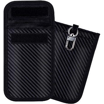 Antitheft Lock Devices Theft Fob Protector Pouch,WiFi//GSM//LTE//NFC//RF Blocker(2 Packs) Faraday Bag,Car Key Signal Blocker Case,LEOKE Faraday Bag Keyless Entry Fob Guard RFID Signal Blocking Pouch Bag