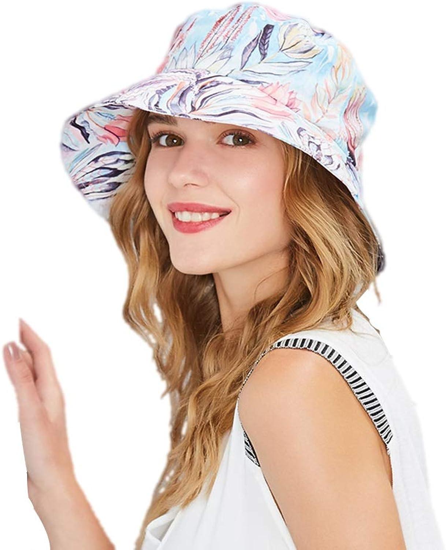 Outdoor Literary Striped Fisherman Hat Female Summer Korean Tide Wild Big Basin Hat Visor Big Folding Hat (Size   57cm)