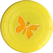 AOLM Orange Butterfly Outdoor Game Frisbee Flying Discs Yellow