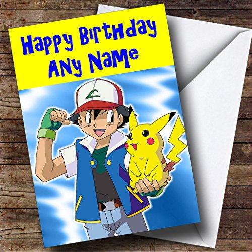 Gepersonaliseerde Pokemon & Pikachu Verjaardagskaart