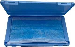 iEay Boîtes de Rangement pour Masques, étui à Masque, Boîtes de Rangement pour Masques, Portable Boîte de Transport (Bleu)