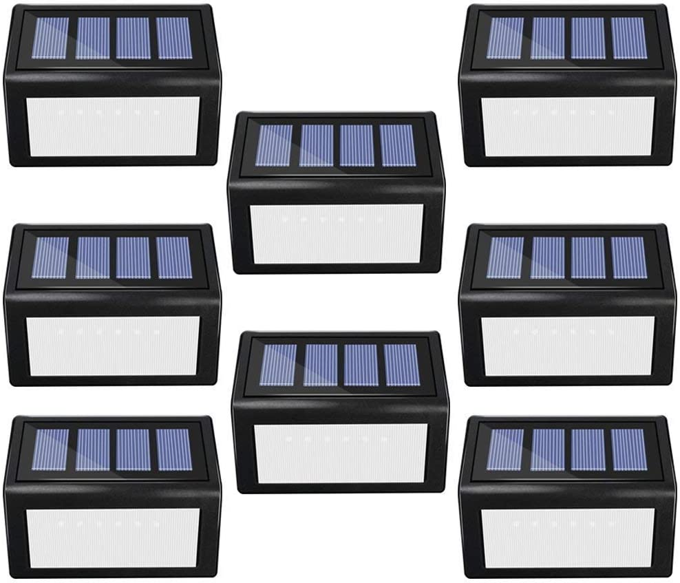 ANDEFINE 8 Pack Solar Step Lights Deck Outdoor Ligh LED 6 lowest price Beauty products
