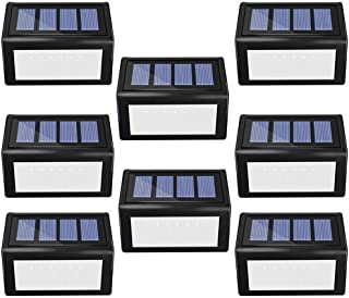 ANDEFINE 8 Pack Solar Step Lights Outdoor, Solar Deck lights 6 LED Wireless Waterproof Security Lamps Lighting for Steps Stairs Decks Docks Patio Garden Pathway (White Light)