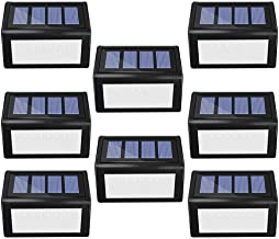 مجموعة من 8 مصابيح شمسية في الهواء الطلق، 6 مصابيح ليد الشمسية سطح المكتب مصابيح أمان لاسلكية مضادة للماء للإضاءة للسلالم ...