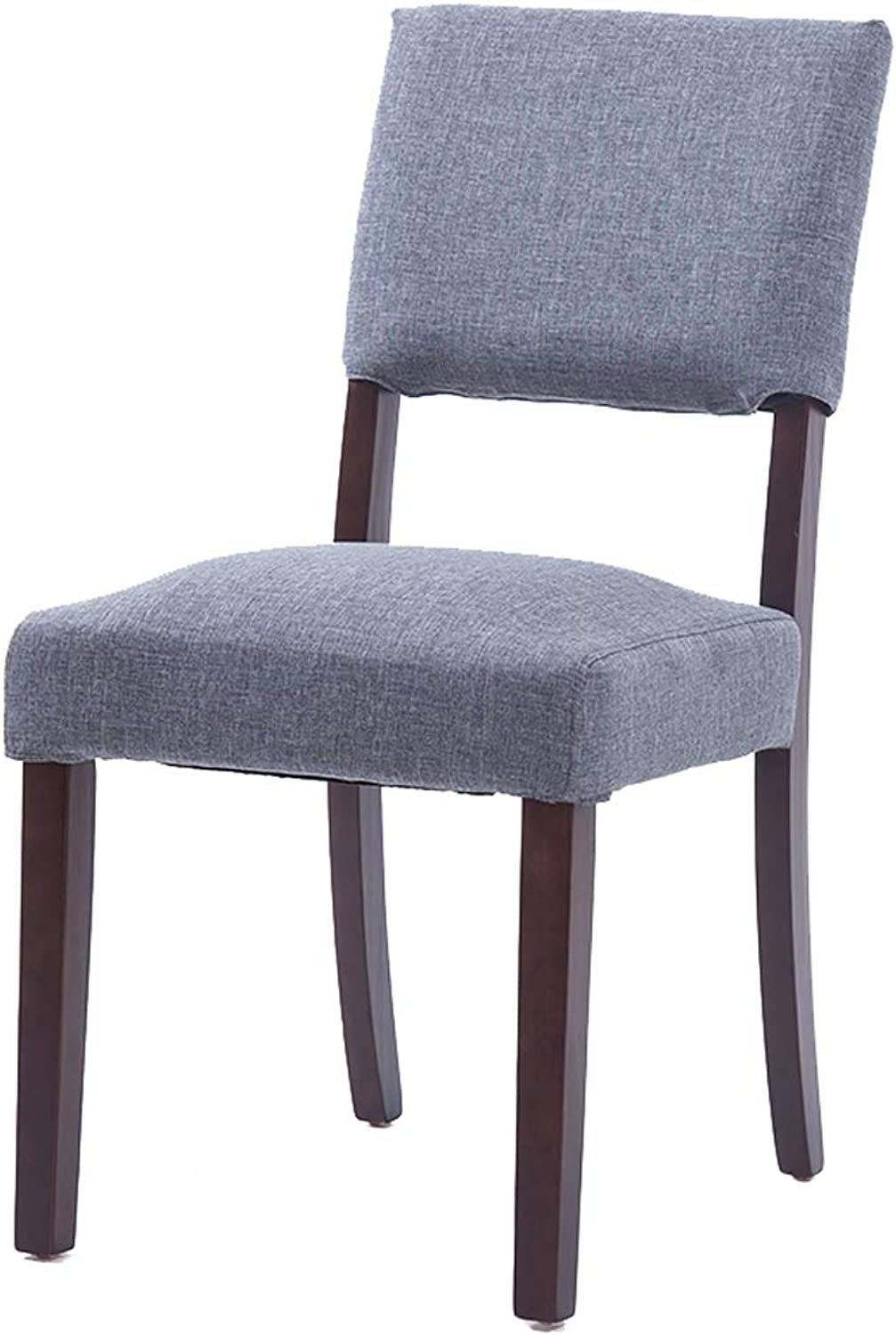 Lxn Simple Casual Dining Chair Brown Solid Wood Dining chairl, Washable Fabric Upholstered,Perfect for Dining and Living Room,Counter, bar,Hotels,Office - 1PCS