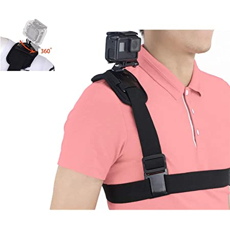 Taisioner Backpack Strap Shoulder Chest Mount Compatible with GoPro AKASO OSMO Action Camera for Climbing Walking on Foot Accessory