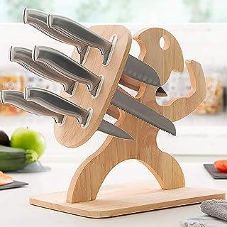 InnovaGoods IG814823 Set de couteaux avec support en bois Spartan 7 pièces