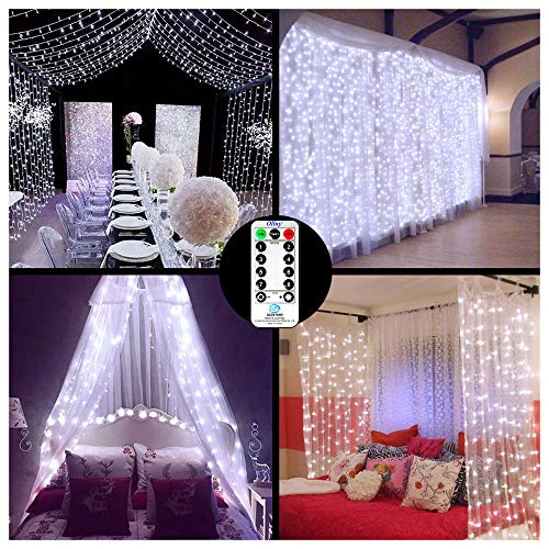Ollny Curtain Fairy Lights Plug in 306 LEDs 3m x 3m,...