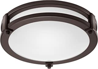 GetInLight LED Flush Mount Ceiling Light, 12-Inch, 15W(75W Equivalent), Bronze Finish, 4000K(Bright White), Dimmable, Round, Dry Location Rated, ETL Listed, IN-0307-1-BZ-40