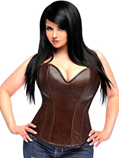 Daisy corsets Women's Top Drawer Steel Boned Faux Leather Corset
