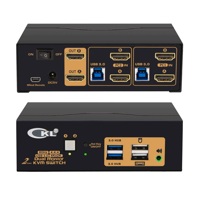 CKL 2 Port Max 63% OFF USB 3.0 KVM Switch Keyboar HDMI 60Hz 4K Dual San Antonio Mall Monitor