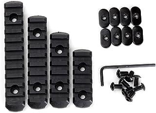 Loglife 4pcsrail-BK1 Polymer Rail Section Kit for MOE Handguard L5 L4 L3 L2 Sizes (Black)