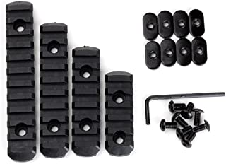 Loglife 4pcsrail-BK1 Polymer Rail Section Kit for MOE Handguard L5 L4 L3 L2 Sizes