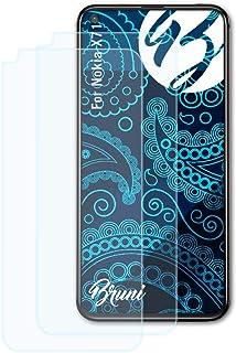 Bruni Skärmskydd är kompatibel med Nokia X71 / Nokia 8.1 Plus Film, kristallklart Skyddsfilm (2X)