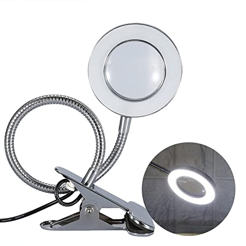 bb65608bc21 Magnifying Lamp, Desk Magnifier LED USB Tattoo Beauty Magnifier Lamp, 2.5X  Cold Light