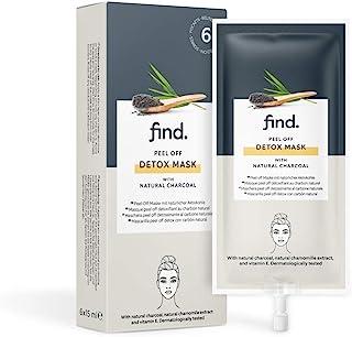 FIND - Mascarilla purificadora de carbón, 6 envases de 15ml