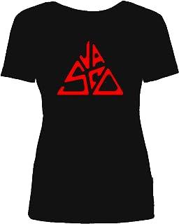 Maglietta T-Shirt Vasco Rossi Donna - Replica Logo - 100% Cotone Tour Vasco