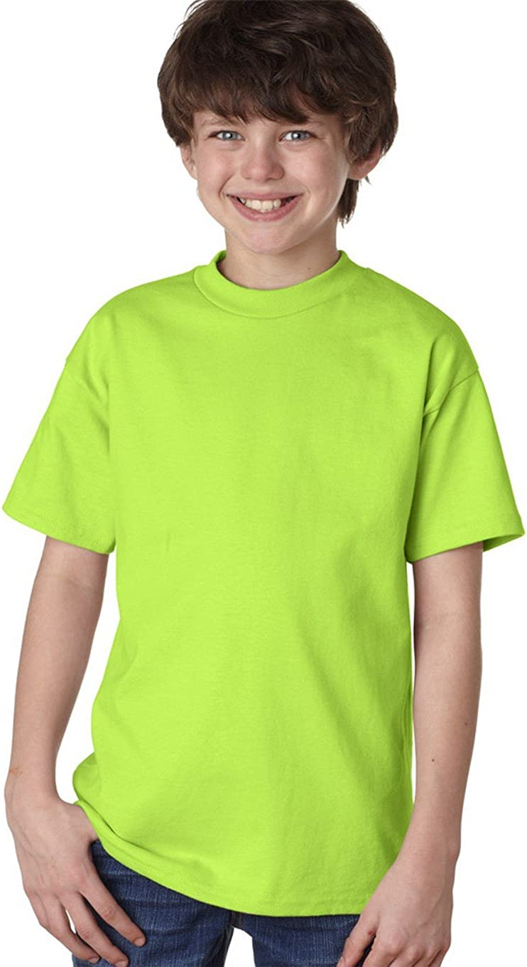 Hanes Youth Tagless T-Shirt - Lime - L