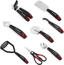 Holstein Housewares 8-Piece Kitchen Gadgets Set - Black/Red