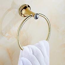 Handdoek ring Moderne Eenvoud Badkamer Accessoires RVS Badkamer Wandmontage Handdoek Cirkel Badkamer Anti-roest Jade Stone...