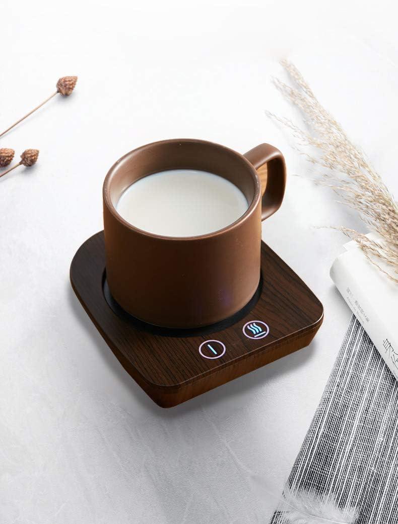 Kaffeew/ärmer /& Becherw/ärmer f/ür den Home-Office-Schreibtisch mit 3 Temperatureinstellungen Electric Cup Beverage Warmer Plate ,Kaffeew/ärmerplatte mit automatischer Abschaltung nach 4 Stunden(Schwarz)