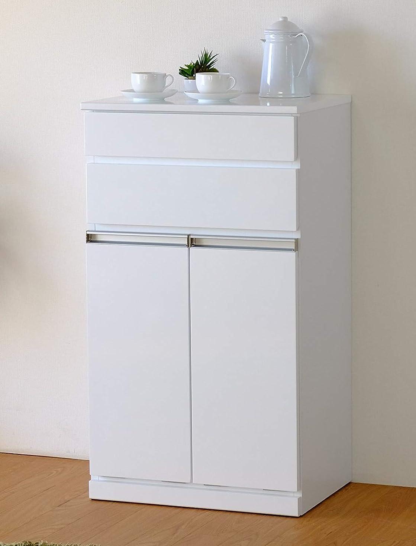 実り多い講師グラマーISSEIKI【選べる3サイズ】キッチンカウンター ダストボックス付き ISSEIKI PEARL DUST BOX 2D (WH) 白 カウンター収納 ゴミ箱内蔵 木製家具