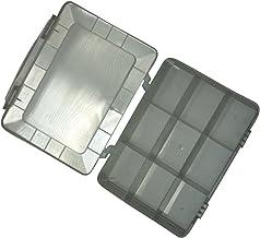 AERZETIX: Caja organizadora Transparente 180x149x40mm con 9 Compartimentos plastico C17608