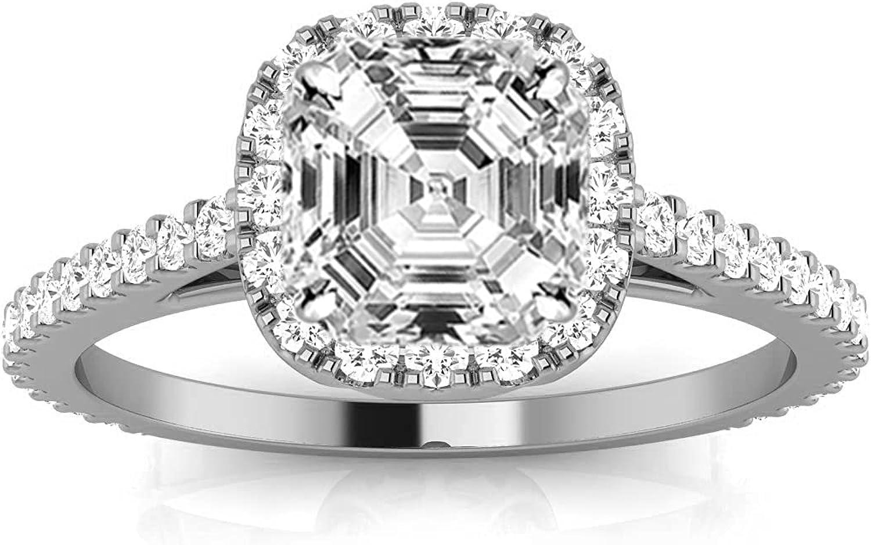 14K White Gold 1.75 Carat LAB Gorgeo New Orleans Mall IGI DIAMOND Max 56% OFF CERTIFIED GROWN