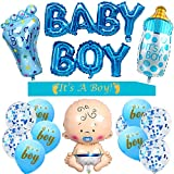 Baby Shower Decorations For Boy - It is a Boy Baby Shower Decoration, It's a Boy Sash, Baby Boy Foil Balloons, Large Baby Bottle Balloon, It is a Boy Balloons