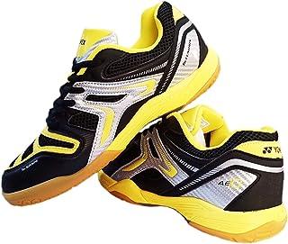 Yonex AllEngland X Non-Marking Professional Badminton Shoes, Black/Yellow/Silver - 8.5 UK