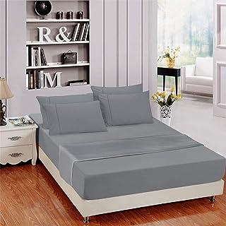 Anpro King Size Bed Sheet Set   Pillowcase Set   Soft Microfiber Super Soft    Wrinkle