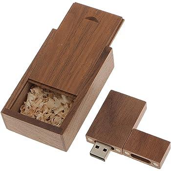 Memoria USB 2.0 Unidad Flash USB de Madera Nogal con Caja de Madera Regalo Creativo: Amazon.es: Electrónica