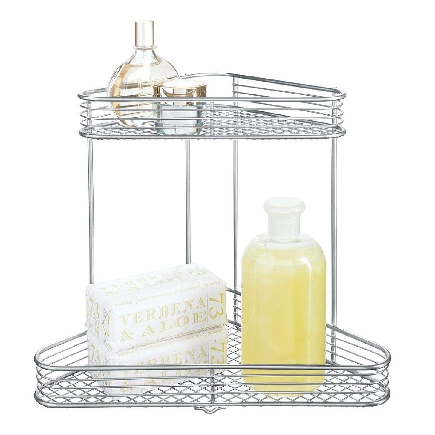 InterDesign Vienna 2-Tier Corner Shelf for Cosmetics and Toiletry Storage, Bathroom, Countertop, Desk, and Vanity,
