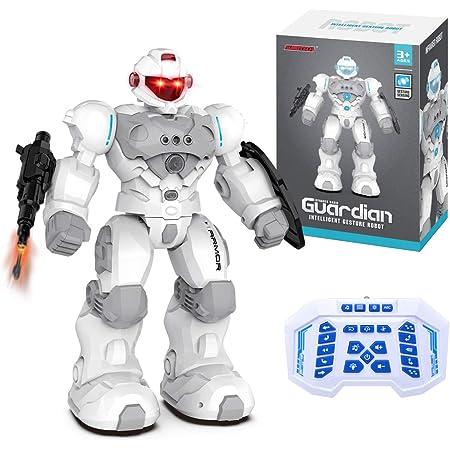 MKZDGM Robot RC para Niños, Programable Inteligente, Juguete de Robot Teledirigido de 2,4GHz, Kit de Robot de Detección de Gestos Caminar Disparar Bailar Cantar, Juguetes Educativos