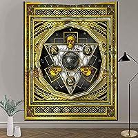 スカルタペストリー0x60インチヴィンテージ大理石リップルタペストリーエジプトのレトロなスタイルハンギングアートタペストリーの装飾リビングルーム用の壁のタペストリー1
