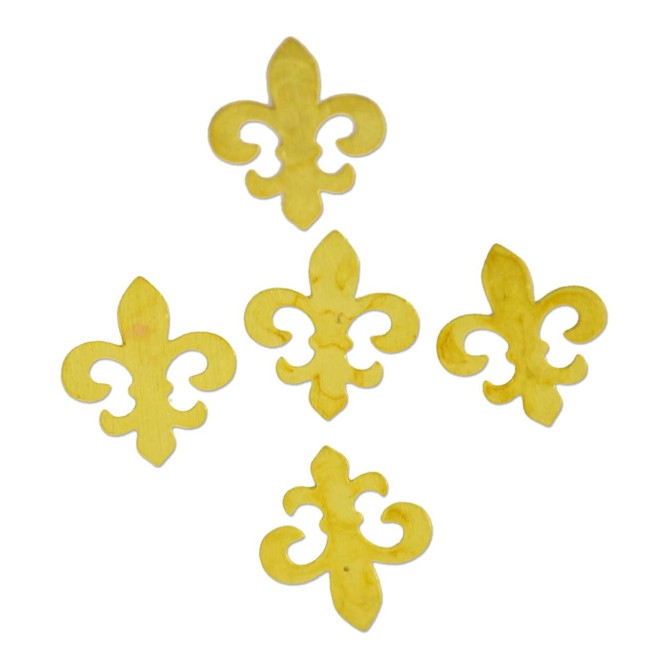 エキスドレス世論調査薄型メタルパーツ10048 百合の紋章 リリィ5mm×6mm ゴールド 20p入り