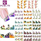 KADS Sticker Water decal Autocollant Ongle Tips Guide French Décor Manucure Nail Art Tattoo Sticker
