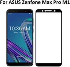 Dashmesh Shopping® Tempered Glass (Full Body Glue) (Edge to Edge) Screen Protector for Asus Zenfone Max Pro M1 (Black)