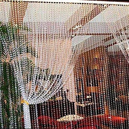 30 M Acrylkristall Garland Strang Kette hängende Diamant-Korn-DIY Dekor-Hochzeit oder als Handarbeit als Vorhang 30M