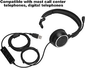 Fone de ouvido para call center, fone de ouvido macio e confortável de serviço durável, microfone com redução de ruído e r...