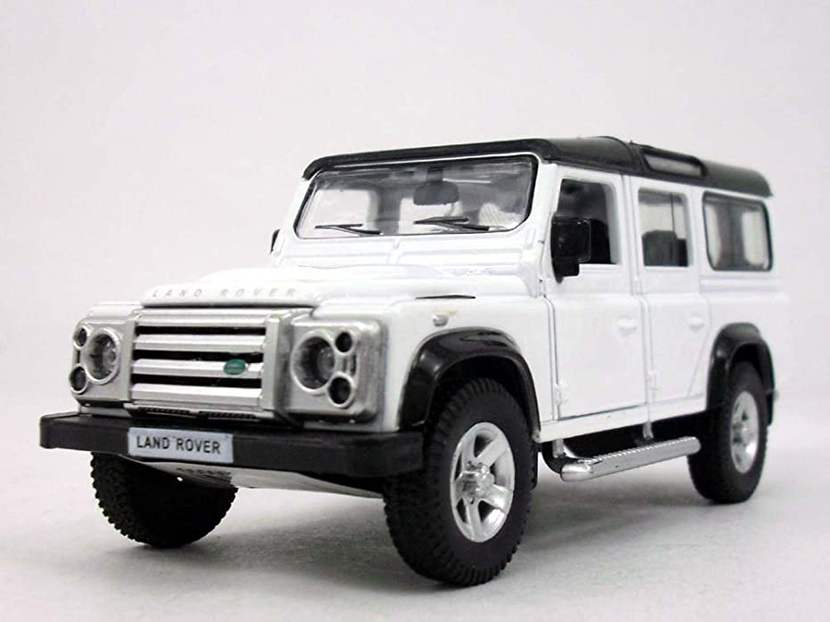 Uni-fortune 5 inch Land Rover Defender Station Wagon Scale Diecast Metal Model - White