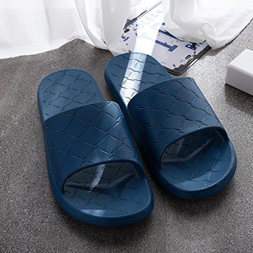 BAOZIV587 Home Outdoor Slippers Thuis Slippers Vrouwelijke Zomer Binnen Niet-slip Zachte Bodem Japanse Huishoudelijke Badkamer Paar Licht Deodorant Houten Vloer Sandalen en Slippers 40/41 Denim Blauw