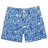 ZMK-720 Shorts Deportivos Hombre Pantalones cortos de playa para hombre secos rápidos con bolsillos y forro de malla que surfeando surfing deportes trajes de baño Troncos de natación Running