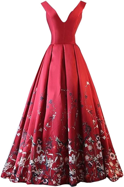 Alion Women's Vintage 1950s Party Deep VNeck Cocktail Wedding Swing Midi Dress