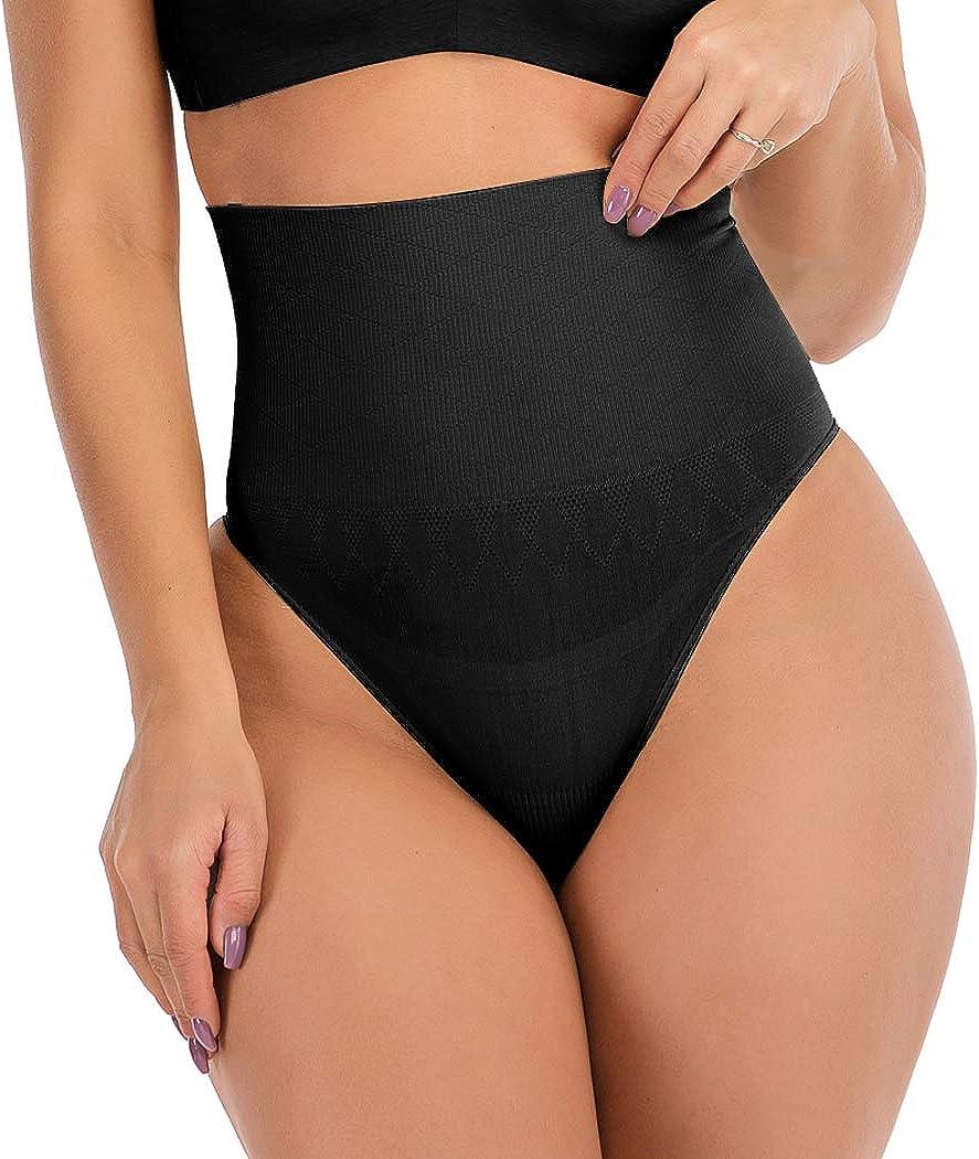 FUTATA Women Thong Shapewear Butt Lifter Body Shaper Waist Cincher Girdles Tummy Control Panty