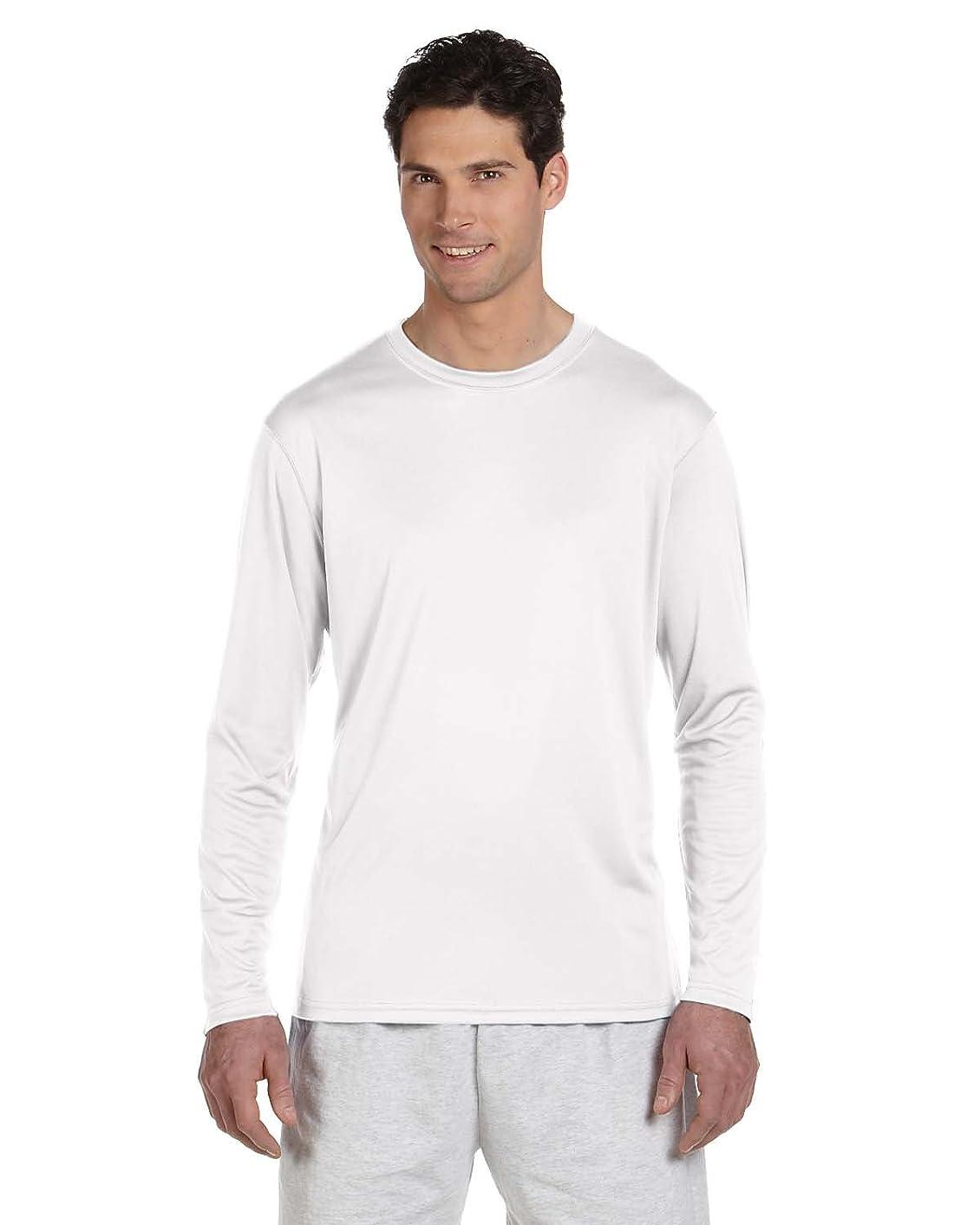 Champion Adult Double Dry Long-Sleeve Interlock T-Shirt